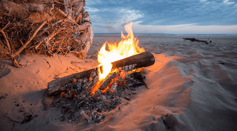 starting fire with wet wood